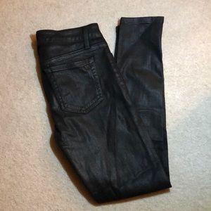 Joe's leather-like skinny fit jeans 26